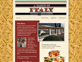 A Taste of Italy Website